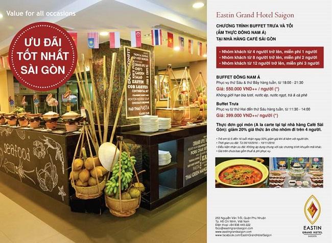 Ưu đãi dành tặng chủ thẻ Vietcombank tại Eastin Grand Hotel Saigon